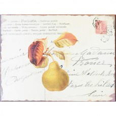 Nostalgic Metal Signs - Vintage multilingual Postcard with Pears