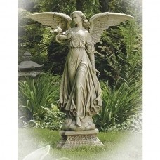 "47"" Angel on Pedestal Garden Statue"