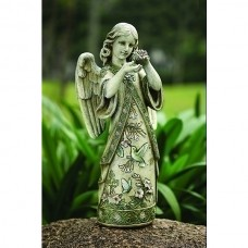 "19"" Angel Hummingbird Garden Statue"
