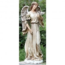 "25"" Angel with Dove Garden Statue"