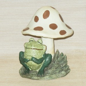 Toadstool Garden Stake - Fun Whimsical Garden Decor