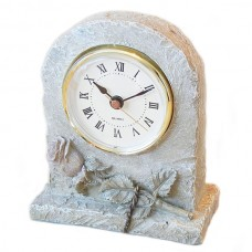 Stone Table Clock with a Rose