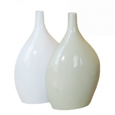 Ceramic Vase - Round and Flat Medium