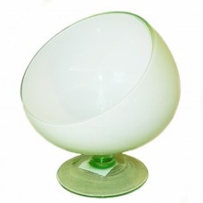 Candy Dish Light Green Glass Bowl
