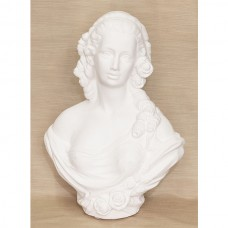 Sculpture - White French Lady Bust - Ceramic