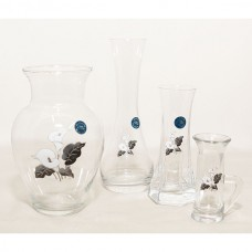 Calla Lily Glass Vase Set of four