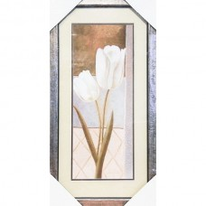 Framed Print - White Tulips