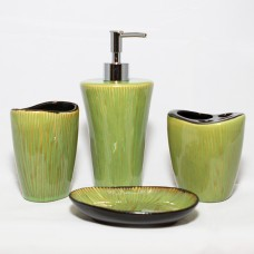 Bathroom Set - Green Palm