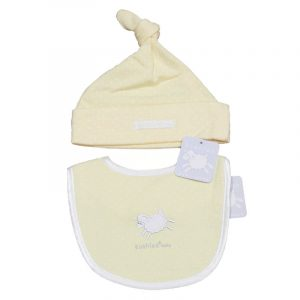 Baby Hat and Bib - Little Lamb