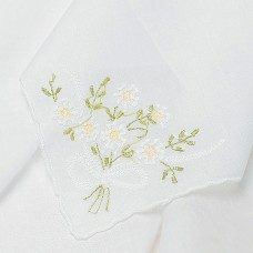 Handkerchief He Loves Me Daisy Weddingstar