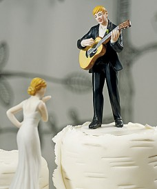 Cake Top Guitar Playing Groom Weddingstar