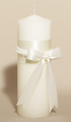 Wedding Unity Candle - Yours Truly - White