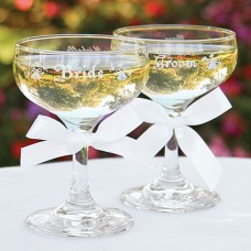 Wedding Champagne Coupe for the Bridal Party- Pair
