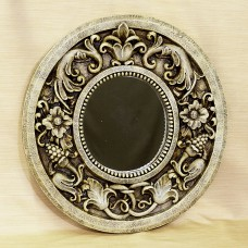 Light Moss Green Round Wall Mirror