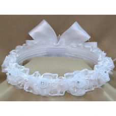 First Communion White Head Band Anita