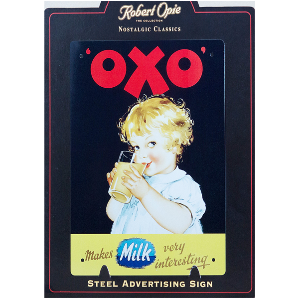 OXO Milk -Vintage advertising wall sign