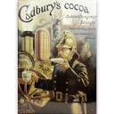 Vintage Cadbury's Cocoa British advertising tin sign