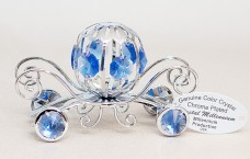 Magical Cinderella's Coach with genuine blue crystals