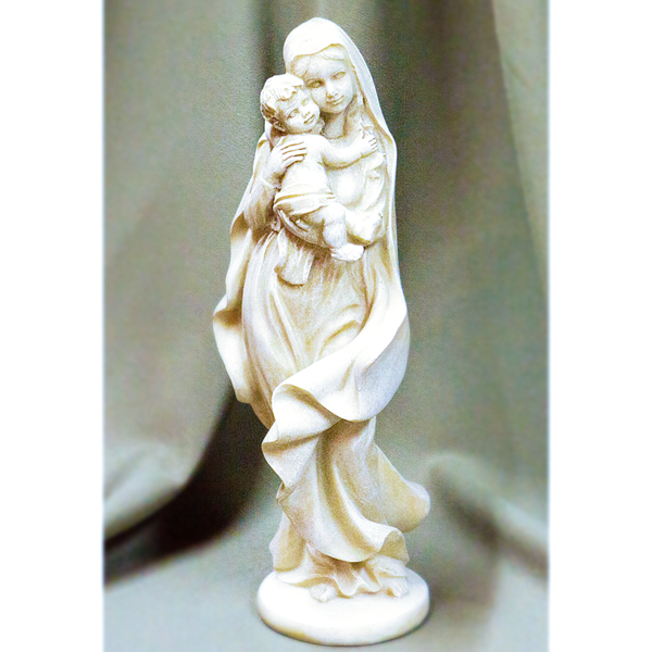 Mary With Baby Jesus Figurine-Resin stone