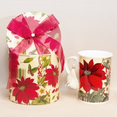 Poinsettia Mug - Matching Holiday Gift Box