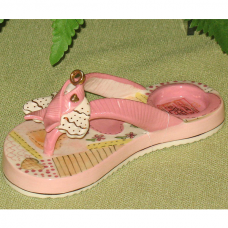 Pink breast cancer Awareness flip flop candle holder