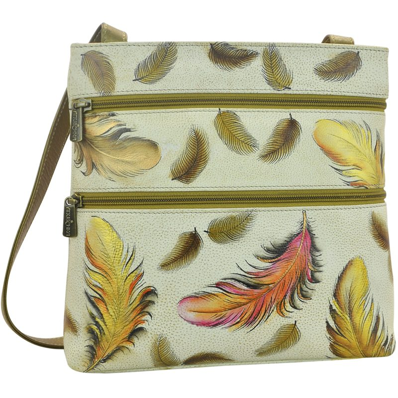 Floating Feathers Compact Crossbody Travel Organizer