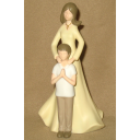 Godmother with Godson Figurine First Holy Communion Gift