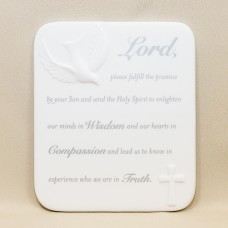 Confirmation White Plaque