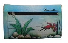 Little Mermaid Check Book Wallet/Clutch - Anuschka