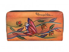 Angel Wings Tangerine Two Fold Organizer Wallet