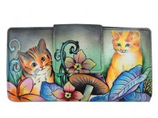 Cats in Wonderland Two Fold Organizer Wallet