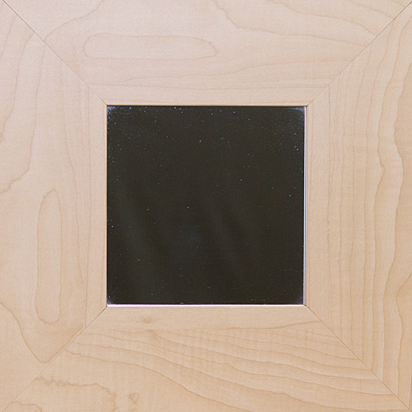Square Mirror with Maple frame