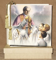 First Communion Boys Photo Album in a window gift box