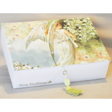 Angel Keepsake Box - Swarovski crystals by Terra Traditions