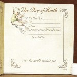 The Day of Birth - Inside page
