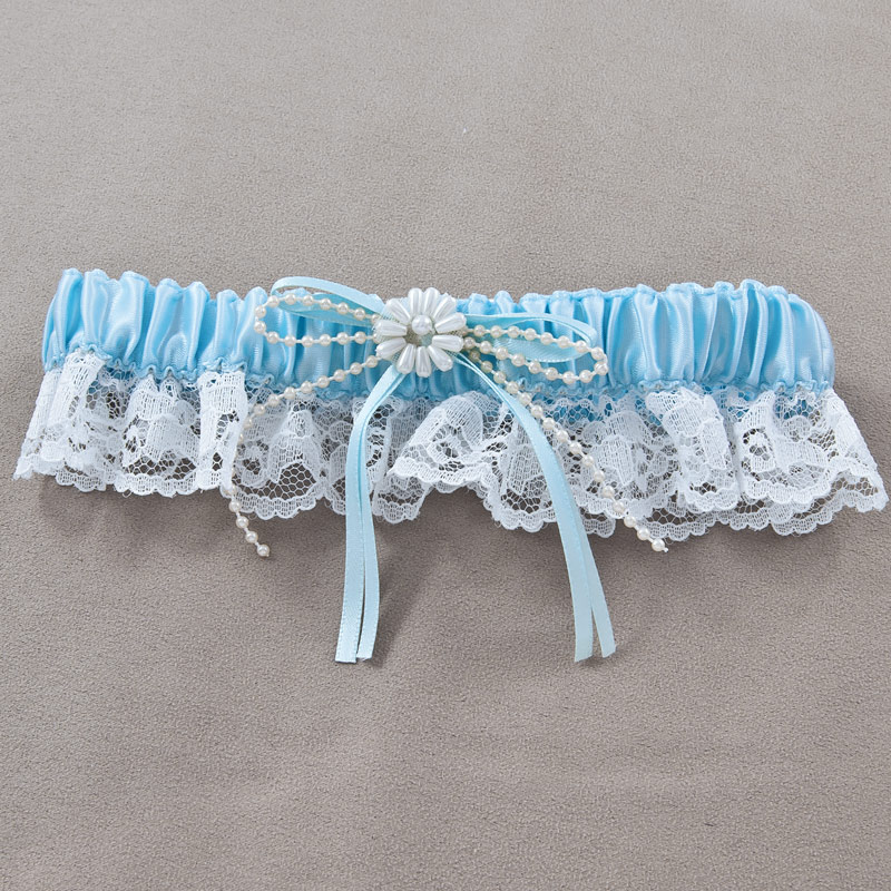 Wedding Garter Bridal Blue