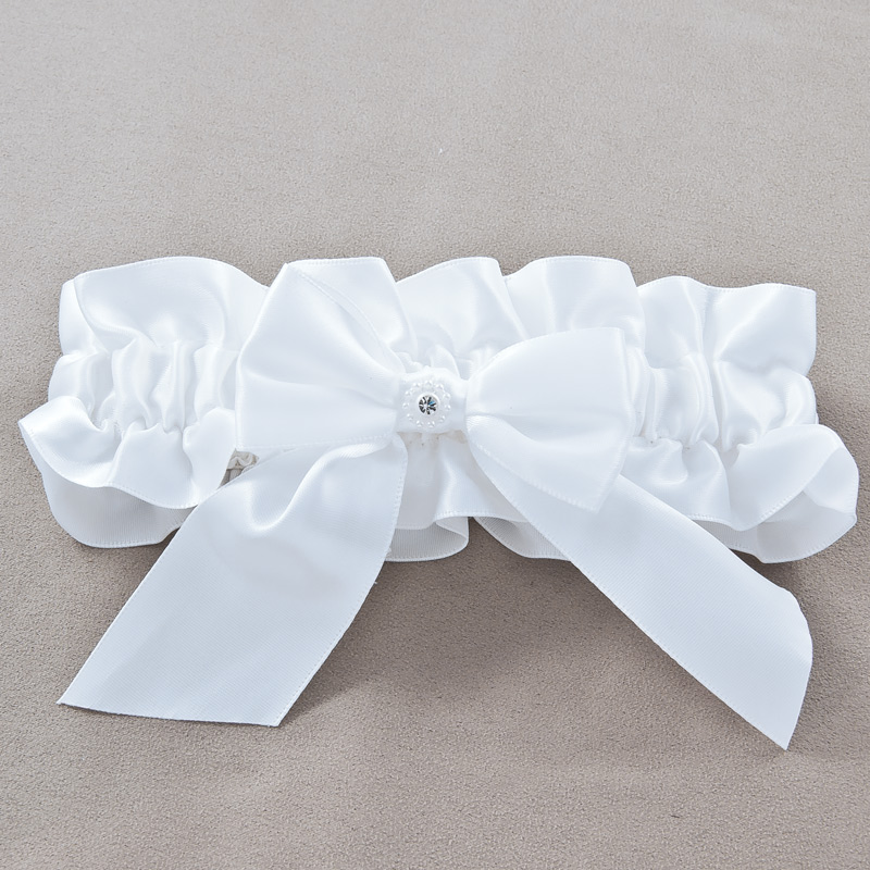 Rhinestone - Satin Wedding Garter