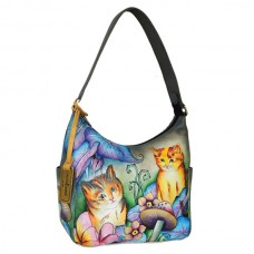 Cats in Wonderland Classic Hobo with Side Pockets