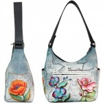 Floral Fantasy Hobo with Side Pockets
