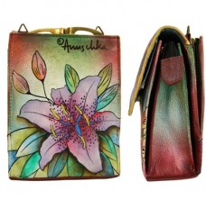 Luscious Lilies Mini Sling Organizer (with mirror)