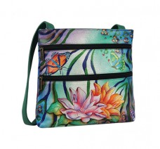 Zebra Garden Small Double Zip Travel Crossbody