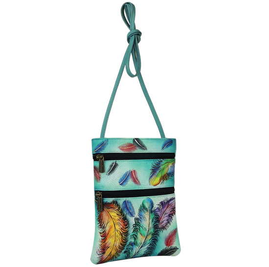 Floating Feathers Mini Travel Crossbody