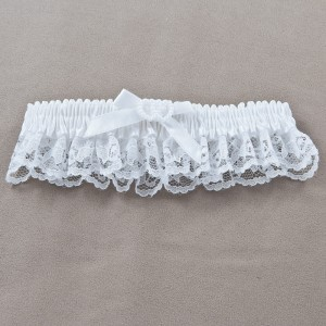 Linking Hearts - Wedding Garter White
