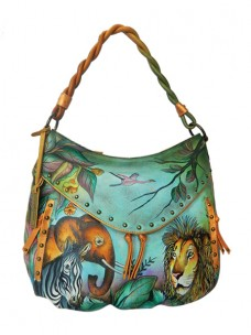 African Adventure Ruched Multi Pocket Hobo