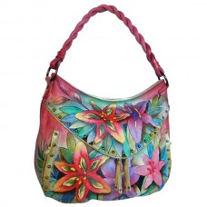 Luscious Lilies Ruched Multi Pocket Hobo