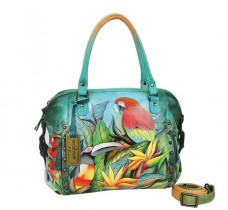 Tropical Bliss Zip Top Medium Satchel