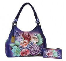 Lush Lilac Triple Compartment Shopper With Braided Handle