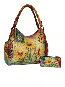 Sunflower Safari Triple Compartment Shopper With Braided Handle