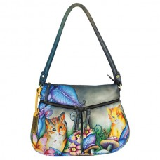 Cats in Wonderland Zip-Top with expandable Pockets