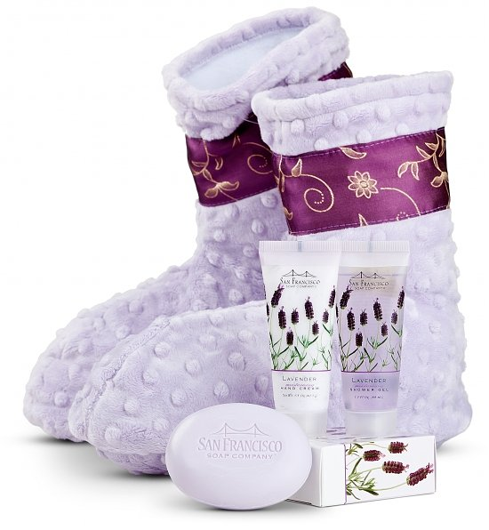 Warming Booties with Lavender Spa Kit